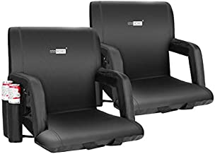 VIVOHOME Reclining Stadium Seat Chairs for Bleachers with Padded Backrest and Armrests, Pack of 2