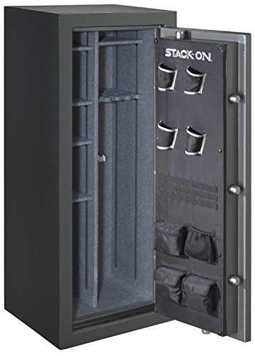 Stack-On TD-24-GP-E-S Total Defense 22-24 Gun Safe with Electronic Lock, Gray Pebble