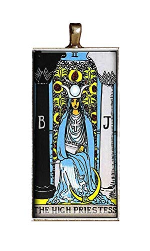 The High Priestess Tarot necklace handmade fortune teller halloween occult jewelry pendant charms gift