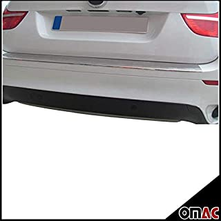 BMW X6 CHROME REAR BUMPER SILL COVER STAINLESS STEEL PROTECTOR TRIM (BRUSHED)