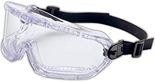 Uvex 11250810 V-Maxx Wrap-Around Goggle, Indirect Vent, Capacity, Volume, Glass, Standard, Clear
