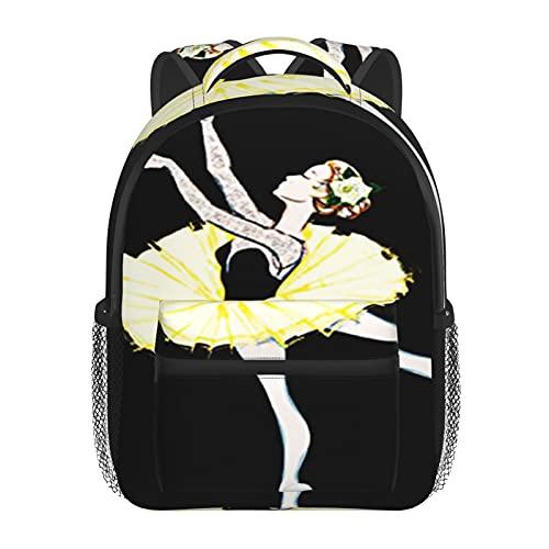 RTUBNSD Kinderrucksack Kostenlose Ballerina Balletttänzerin 10, Kindergarten Vorschul Tasche Schultasche für Kleinkinder Mädchen Jungen