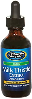 The Vitamin Shoppe Organic Milk Thistle Extract 1,000MG (Silybum Marianum), Alcohol Free, Herbal Supplement That Supports ...