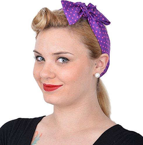 Unbekannt Cute Retro Olivia Polka Dots 50s Punkte Haarband Rockabilly