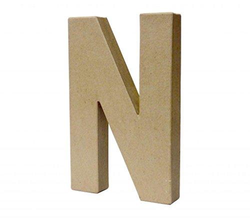 Papier Paper Mache Large Letters 20.5cm - Cardboard Craft (N)