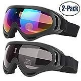 Cooloo : Lot de 2 paires de lunettes de ski pour tous