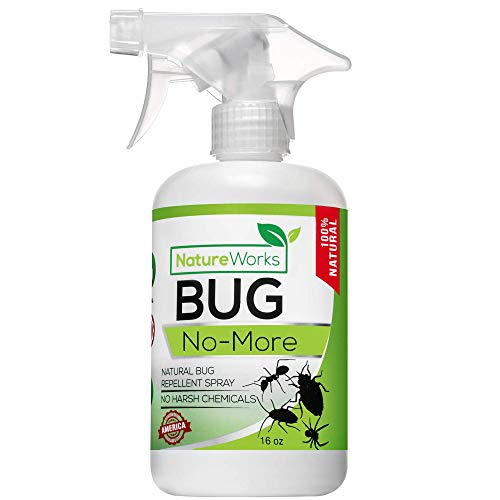Bug No More | Natural Insect & Pest Control Spray | Ant Roach Termite Fly Mosquito Flea & Spider Killer | Organic Indoor Outdoor Pesticide I Home Patio Lawn & Garden Insecticide | Kid & Pet Safe 16oz