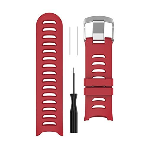 XUEMEI Colorida Banda De Reloj De Muñeca De Reemplazo De Silicona para Garmin Forerunner 610 Reloj con Herramientas (Color : Red)