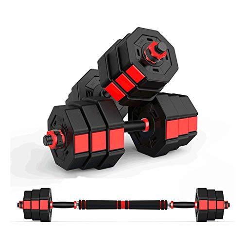 zaza Multifunzionale manubri bilanciere Set, Regolabile Ottagonale Antiscivolo manubri Pair, for Il Bodybuilding Che dimagrisce modellando Nero (Dimensione : 10KG×2/22LB×2)