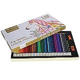 Suministros de arte prácticos, juego de lápices de colores de 120 colores suavemente profesionales, escritura portátil para estudiantes
