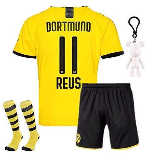 Langston Jungen Trikots Fußball für Kinder Reus 11 Borussia Dortmund BVB 2019-2020 T-Shirt & Shorts mit Socken