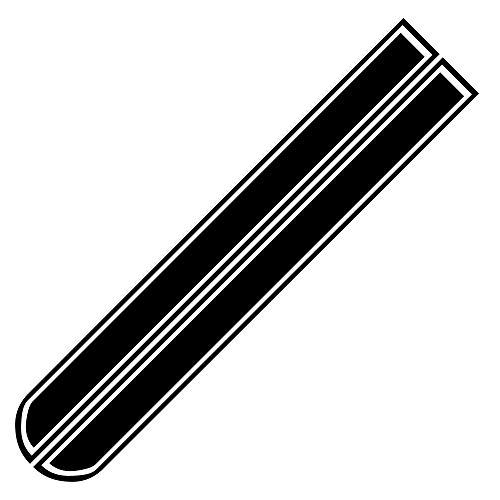 AILOVA 2 pegatinas para capó de coche con diseño de rayas de auto para la cubierta frontal, pegatinas de vinilo para auto del cuerpo de 51 x 9.5 pulgadas