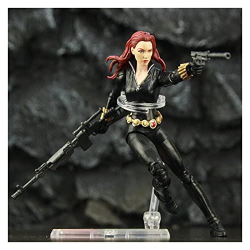 JJSCCMDZ Figuras de acción Viuda Negra Origen Mortal 6'Figura de acción Traje Negro Soldado Juguetes Muñecas Modelo Modelo de muñeca