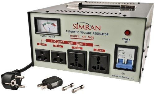 Simran AR-50000 W Regulador y estabilizador de voltaje con Transformador de tensión de subida/bajada…