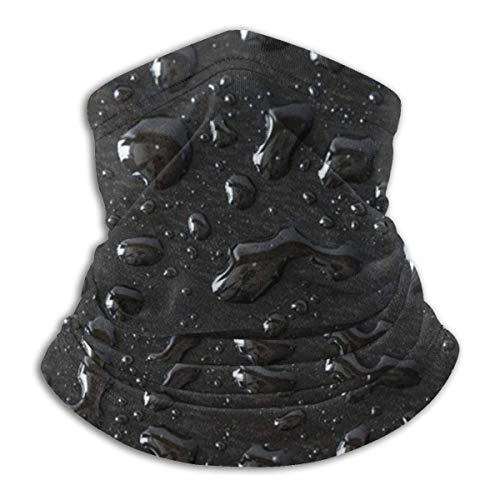 Etryrt Gouttes d'eau Noir Fond Abstrait Hiver Polaire Cache-cou Guêtres Cagoule Élastique Souple Bandeau Sans couture