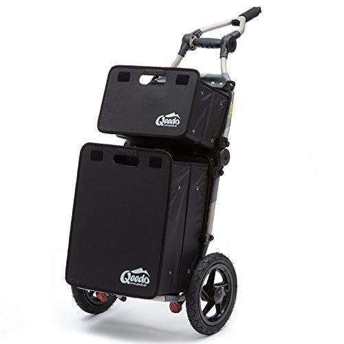 Burley Travoy Fahrrad Lastenanhänger und Einkaufs-Trolley Set mit Qeedo Quick Case Faltboxen