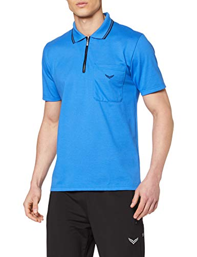 Trigema Herren 627633 L Poloshirt, Blau (Electric-Blue 048), Large
