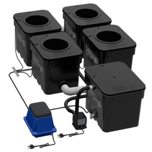 Under Current UC4 - 4 Site - 8 in. Net Pots - 8 Gallon Grow Modules - 18 in. Between Pots - 64 Watts - 120 Volt - CCH2O UC4