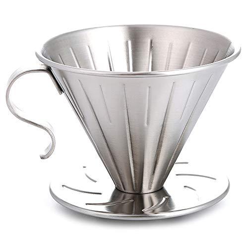 Noblik Edelstahl Klug Gie?En Sie über Kaffee Tropfer Brauer Kegel Filter Kaffee Maschine mit Perfekt Stand Gross