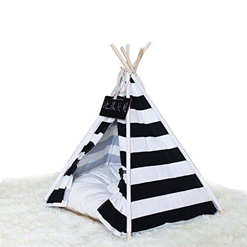shanzhizui Rayas blancas y negras Tienda de mascotas Medio, pequeño y mediano...