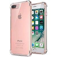 Jenuos Funda iPhone 7 Plus/iPhone 8 Plus, Transparente Suave Silicona Protector TPU Anti-Arañazos Carcasa Cristal Caso Cover para Apple iPhone 7 Plus / 8 Plus - Transparente (7P-TPU-CL)