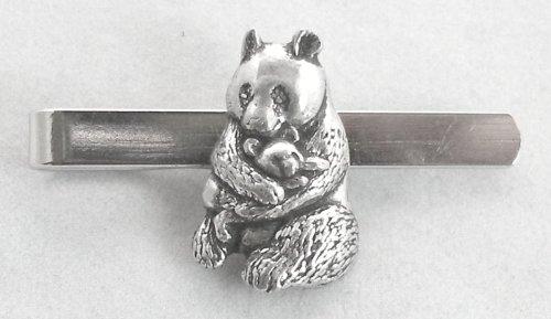Panda gigante Clip de corbata (slide) in Fine English Pewter, en caja de regalo