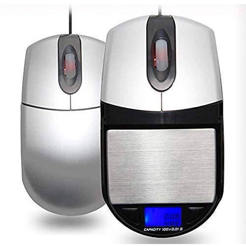 Kubuy keukenweegschaal Slingifts USB 100 g/0,01 g optische muis, verborgen, zakweegschaal, digitaal, nauwkeurige sieradenweegschaal, 0,01 g