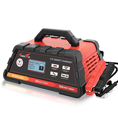 Best Price 2/10/25A 12V Smart Battery Charger/Maintainer Fully Automatic with Engine Start, Cable Cl...