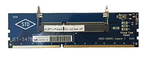 JET-5478MK2 DDR3 204pin SODIMM adapter with Metal Guide