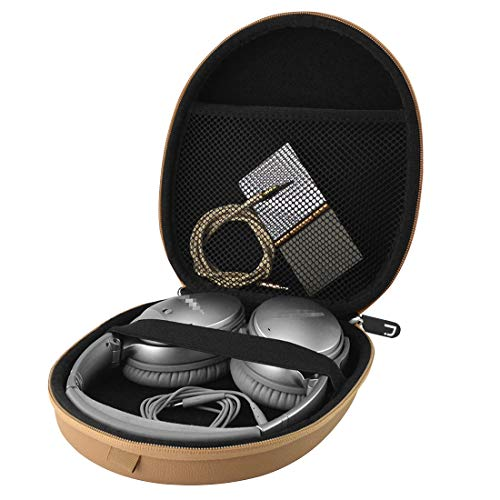 Headphones Carrying Case for Bose QuietComfort QC35, QC25, QC2, QC15, AE2w, AE2i, AE2, SoundLink, SoundTrue/Headset Full Size Hard Travel Bag (Light Brown)