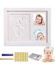 [KMKL] 赤ちゃん フォトフレーム 手形 足形 ベビー 写真立て 手形足形キット 置き掛け兼用 出産祝い 内祝い ベビー記念品 成長記録