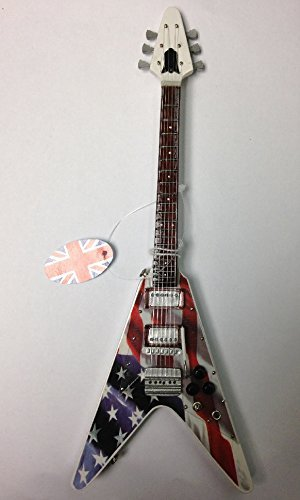 Baby Axe Miniatur-Gitarre - Gibson Flying V Stars N' Stripes BA28V