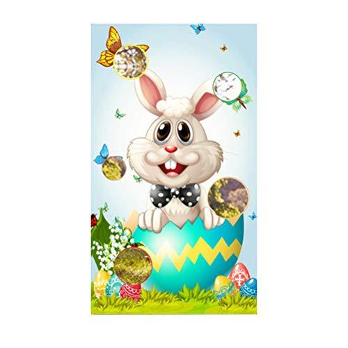140x80cm Easter Toss Game Ball Toss Throwing Banner Juego de Fiesta de fútbol para Interiores y Exteriores para niños Adultos Familia Pascua Suministros para Fiestas de cumpleaños