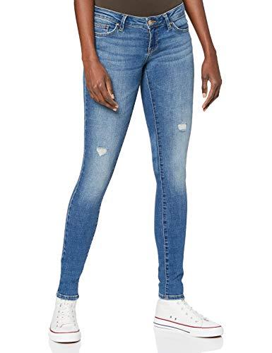 ONLY Damen ONLCORAL Life Superlow SK BB DOT866 Jeans, Medium Blue Denim, 28W / 32L