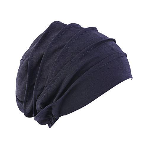 Amorar Frauen Baumwolle Bandana Turban Chemo Krebs Cap Hijab Bonnet Kopftücher Schal Hut Kopfbedeckung Schlafmütze Muslimisches Chemotherapie-Kappe Kopftuch