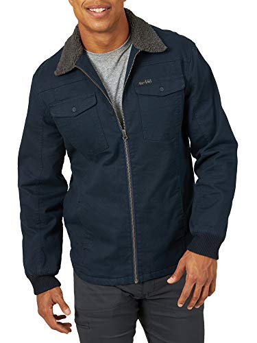 ATG by Wrangler Men's Sherpa Lined Canvas Jacket, Dark Sapphire, 4X