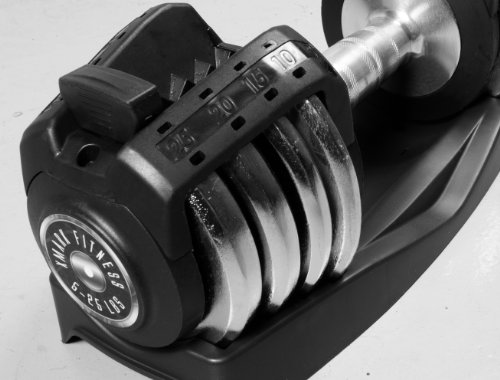 XMark Pair of 25 lb. Adjustable Dumbbells XM-3305
