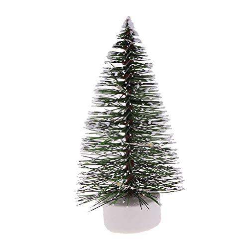 perfeclan 1/12 Puppenstube Mini LED Lichter Weihnachtsbaum Modell Weihnachten Party Ornamente - Grün