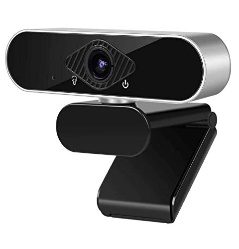 1080P Webcam with Microphone Full HD Computer Camera for PC Desktop with Wide Angle USB Web Camera for Live Streaming Video Calling and Recording