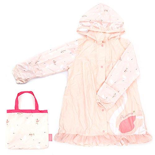 Kids Regen Poncho Milieubescherming Hoed slijtvast Regenjas Ballet Meisje Patroon Regenjas Kind Baby Hooded Poncho Blauw
