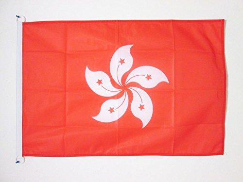 AZ FLAG Bandiera Hong Kong 150x90cm - Bandiera Cinese 90 x 150 cm Speciale Esterno