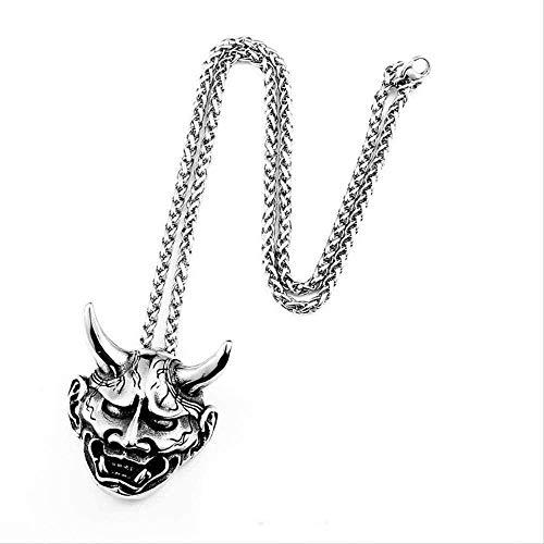 WLHLFL Collar 316l Acero Inoxidable Vintage Diablo Colgante Hell Devil Collar Colgante...