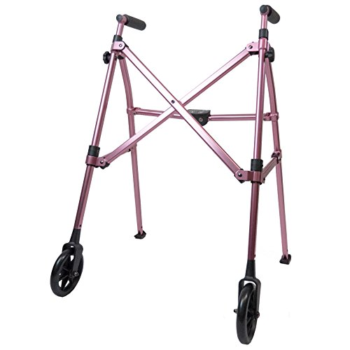 FOLDABLE COMPACT WALKER: The Able Life Space Saver Walker folds 4 times smaller than average walkers and rollators making this walker portable and easy to store; easily collapse the walker like an umbrella stroller with the touch of a finger, making ...