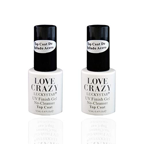 LOVECRAZY-Kit de Esmaltes de Uñas en Gel Semipermanente (2Uds de Top Coat)