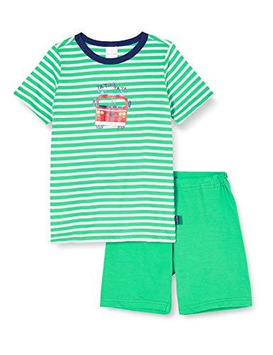 Schiesser Jungen Boys World Kn Kurz Zweiteiliger Schlafanzug, Grün (grün 700), (Herstellergröße:140)