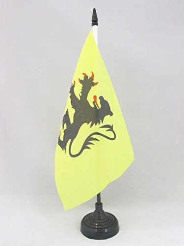 AZ FLAG Bandera de Mesa de Norte 21x14cm - BANDERINA de DESPACHO Departamento FRANCÉS DE Nord 14 x 21 cm