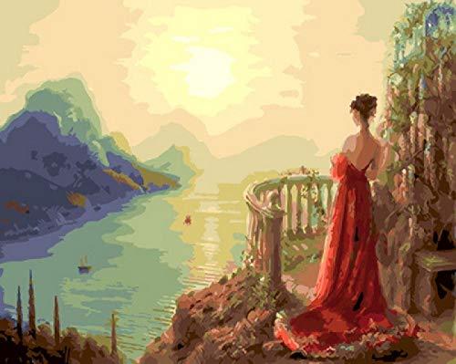TWYYDP Puzzel Für Erwachsene 1000 Teile Vermisste Rote Dame Wohnkultur Gemälde, Plakate