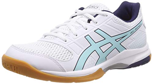 Asics Gel-Rocket 8, Zapatos de Voleibol Mujer, Blanco (White/Icy Morning 115), 38 EU