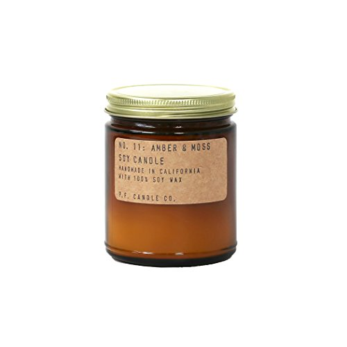 p.f. Candle Co。Amber and Moss Soy Candle 3.5 Oz