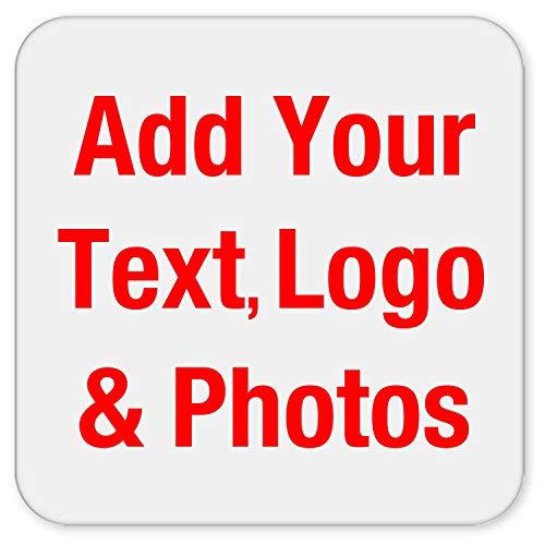 Personalisiertes Geschenk Fügen Sie Ihr Foto-Text-Logo hinzu - Photo Personalized Gift - Untersetzer Rutschfest Rückseite aus Kork - Geschenk zum Geburtstag Jahrestag Muttertag Vatertag Ostern